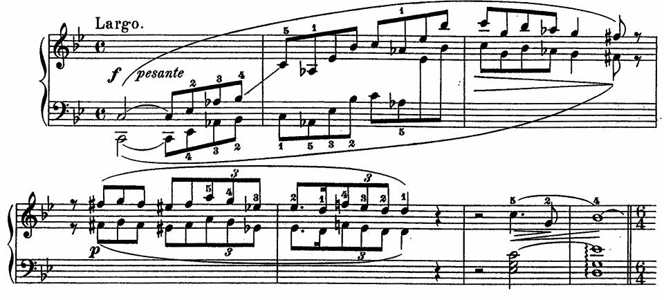 バラード一番 楽譜