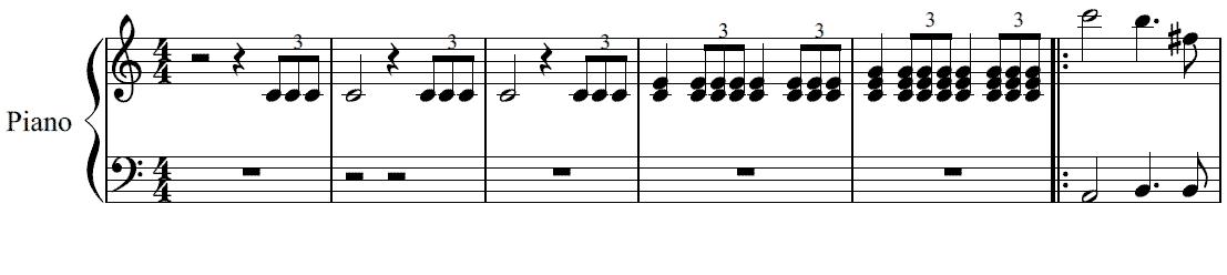 結婚行進曲簡易版の楽譜1 スポンサーリンク Wedding March