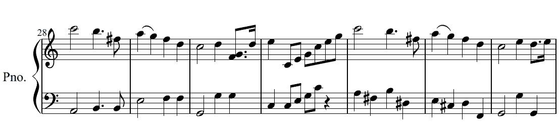 結婚行進曲簡易版5 結婚行進曲簡易版 -無料ピアノ楽譜- 結婚式 クリスマス 七夕 春の曲 お正